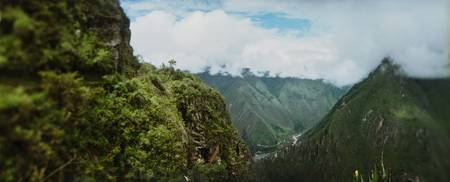 High angle view of mountains Andes Cusco Region P