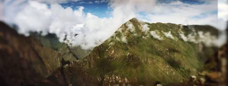 Clouds over mountains Andes Machu Picchu Cusco Re