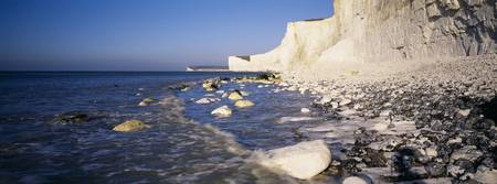 Chalk cliffs on the coast Beachy Head Seven Siste