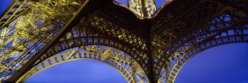 Underside Eiffel Tower Paris France