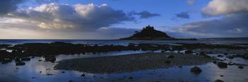 Silhouette of a church St. Michaels Mount Mounts