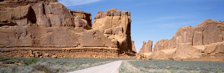 Road thru Arches National Park Moab Utah