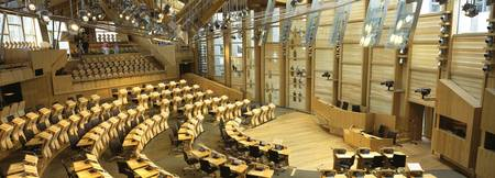 Interiors of a debating chamber in a government b
