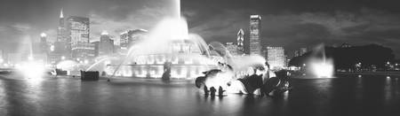Evening Buckingham Fountain Chicago IL