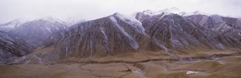 Panoramic view of snowcapped mountains