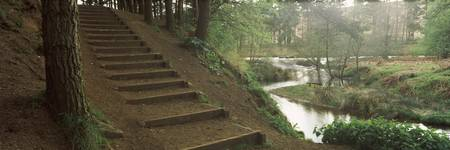 Steps at a reservoir Cod Beck Reservoir Osmotherl