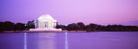 Dusk Jefferson Memorial Washington DC