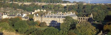 High angle view of a palace Holyrood Palace Edinb