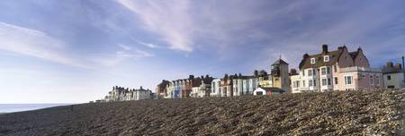 Houses on the beach Shingle Beach Aldeburgh Suffo