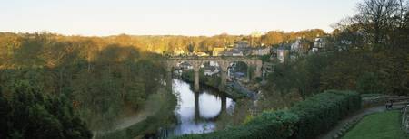 Viaduct across a river River Nidd Knaresborough N