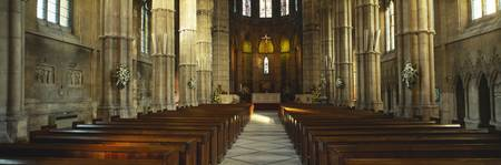 Interiors of a cathedral