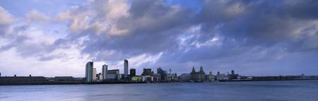 City at the waterfront Liverpool River Mersey Mer