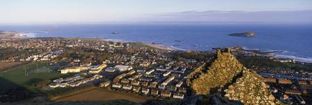 High angle view of a town North Berwick East Loth
