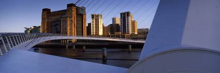 City skyline viewed from bridge Gateshead Millenn