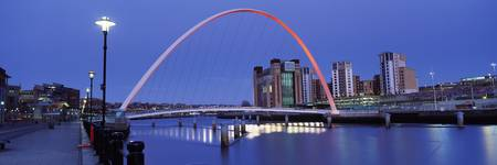 Bridge across a river Gateshead Millennium Bridge