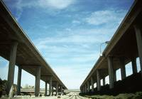 Low angle view of elevated roads