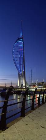 Tower at night Spinnaker Tower Gunwharf Quays Por
