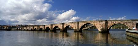 Arch bridge across a river Berwick Bridge Tweed R