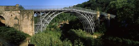 Arch bridge across a ravine Ironbridge Ironbridge