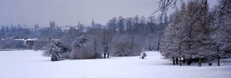 Oxford spires in winter from Headington Hill Oxfo