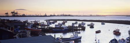 Fishing boats at a harbor Paddys Hole South Gare