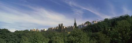 City viewed from a garden The Mound Edinburgh Sco