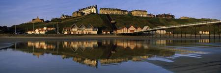 Town at the waterfront Saltburn Redcar And Clevel