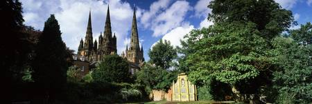 Low angle view of a church Lichfield Cathedral Li