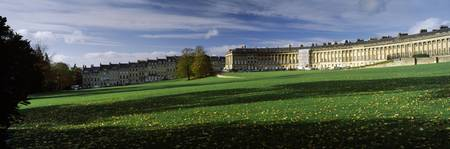 Residential buildings in autumn Royal Crescent Ba