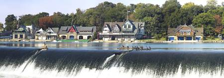 Boathouse Row at the waterfront