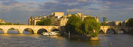 Arch bridge over a river Pont Neuf Seine River Is