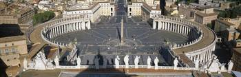 High angle view of a town square St. Peters Squar
