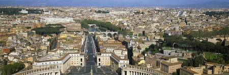 Overview of the historic centre of Rome from the