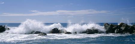 Beach With Crashing Waves Chiavari Liguria Italy