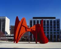 Sculpture in front of a building