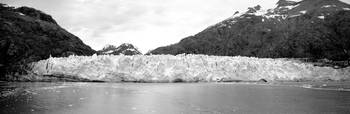 Glacier at waters edge