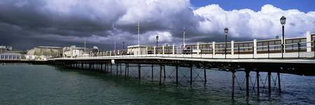 Pier in the sea Worthing Pier West Sussex England