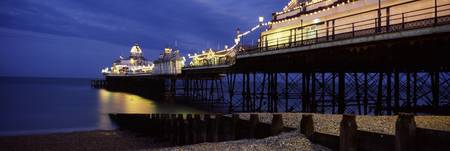 Pier lit up at night Eastbourne Pier Eastbourne E