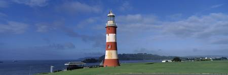 Lighthouse on the coast Smeatons Tower Plymouth H