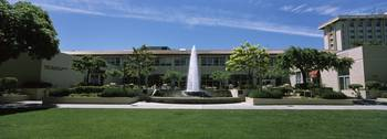 Fountain at a university campus Santa Clara Unive