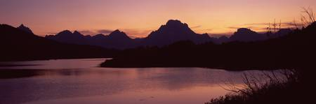River passing by a mountain range Oxbow Bend Snak