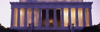 Facade of the Lincoln Memorial