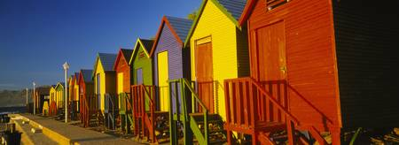 Beach huts in a row