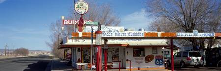 Restaurant on the roadside Route 66 Arizona