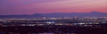 Cityscape at sunset Phoenix Maricopa County Arizo