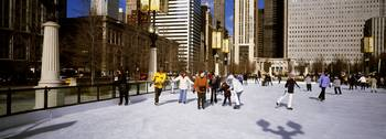 Millennium Park Ice Skating Rink Chicago IL
