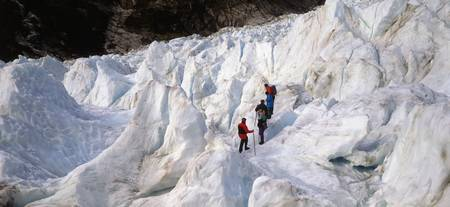 Trekking on Fox Glacier New Zealand