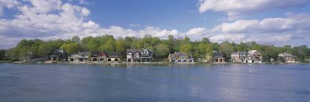 Boathouses near the river