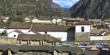 Buildings in a village