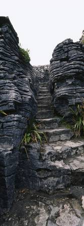 Staircase between rocks